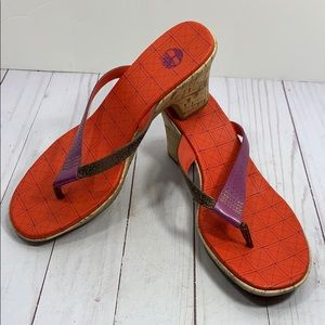 Timberland cork multicolored leather sandals